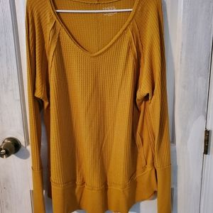 Mustard Yellow Time and Tru long sleeve shirt